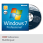 Windows 7 Professional 64 Bit OEM Vollversion Betriebssystem SP1 im Angebot