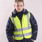 Kinder-Warnweste  DIN EN 1150 - gelb