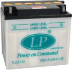 Landport Y60-N24A-LB Motorrad Batterie, 12 V 24 AH