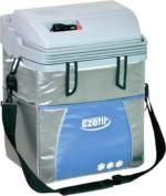 EZetil ESC21 Elektro-Kühlbox, ca. 20 Liter Kühlraum, silber/blau, 12V