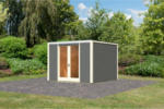 Karibu Gartenhaus »Cubus Front«, terragrau