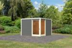 Karibu Gartenhaus »Cubus Eck«, terragrau