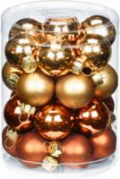 Weihnachtskugeln »Suisse Chalet-Mix« 60mm, aus Glas