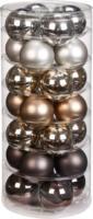 Weihnachtskugeln »Urban Graphic-Mix« 30mm, aus Glas