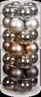 Weihnachtskugeln »Urban Graphic-Mix« 45mm, aus Glas
