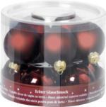 Weihnachtskugeln »Dunkelrot« 60mm, aus Glas