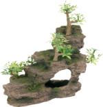 Trixie Felsentreppe mit Pflanzen 19 cm