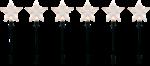 LED-Sternenstäbe-Set, 6er Set