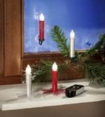 Kabellose Kerzen, 5er Set rot