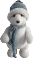 »Eisbär« mit Mütze und Schal (stehend)