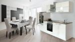 Respekta Küchenzeile 270 cm Weiß Weiß, mit Geräten, Glaskeramikkochfeld