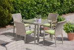 Greemotion Gartenmöbel-Set »Manila« grau, 5tlg.