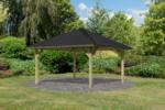 Karibu Holzpavillon »Holm 1« Massivholz kdi, im Set mit Schindeln