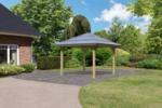Karibu Gartenpavillon Carport »Kirn 3« Massivholz