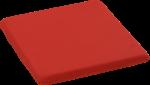 GO-DE Sitzkissen »Julia Rustico« 37x37 cm, rot