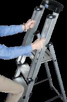 KRAUSE Stufen-Stehleiter »Sepuro« inkl. Handlauf, 7 Sufen