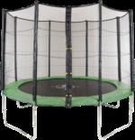 Royalbeach Trampolin »Ambiente« mit Sicherheitsnetz, grün