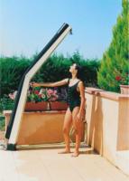 Solardusche »gebogen«, Edelstahl