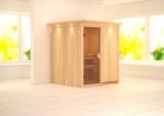 Karibu Sauna »Laurin« 68 mm, ohne Ofen mit Kranz