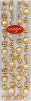 Kette Weihnachtsbaumkugeln Gold-Mix, 220 cm