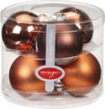 Weihnachtskugeln Kupfer/Braun, 80mm, aus Glas