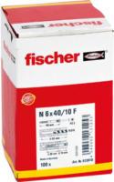 Fischer Nageldübel »N 6x40 /7 P« mit Senkkopf gvz