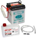 Landport 6N4-2A-4 Motorrad Batterie mit Säurepaket, 6V, 4Ah