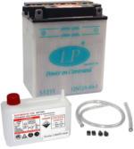 Landport YB12A-A Motorrad Batterie mit Säurepaket, 12V, 12Ah