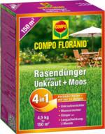 Compo FLORANID Rasendünger »4in1« mit Unkrautvernichter, 4,5 kg
