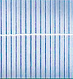 Kunststoffmatte Rügen  aluminium
