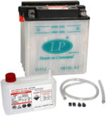 Landport YB10L-A2 Motorrad Batterie mit Säurepaket, 12V, 11Ah