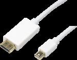 LogiLink Kabel Mini DisplayPort auf HDMI, 2 Meter, Weiss