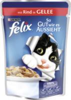 Nassfutter für Katzen, So gut wie es aussieht, Rind in Gelee