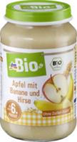 Apfel mit Banane und Hirse ab dem 6. Monat