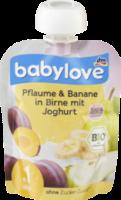 Quetschbeutel Pflaume & Banane in Birne mit Joghurt ab 1 Jahr