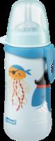 Trinkhalmflasche mit flexiblen und weichen Trinkhalm aus Silikon, ab 12 Monaten, 330ml, hellblau