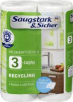 Recycling Küchentücher 2x102 Halb-Blatt (2x51 Blatt)