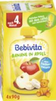 Quetschbeutel Banane in Apfel nach dem 4. Monat, 4x90g