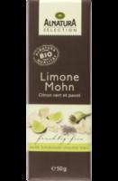 Weiße Schokolade Limone Mohn