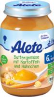 Babymenü Buttergemüse mit Kartoffeln & Hühnchen ab 6. Monat