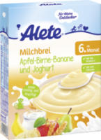 Milchbrei Apfel-Birne-Banane und Joghurt ab 6. Monat