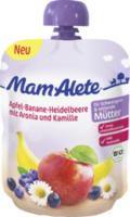 Quetschbeutel Apfel-Banane-Heidelbeere mit Aronia und Kamille für Schwangere und stillende Mütter