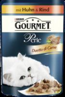 Nassfutter für Katzen, Perle Duetto di Carne mit Huhn und Rind