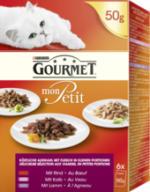 Nassfutter für Katzen, Mon Petit mit Fleisch, Multipack 6x50g