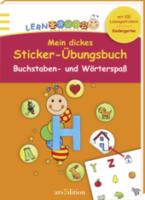 Lernraupe - Mein dickes Sticker-Übungsbuch Buchstaben und Wörterspaß