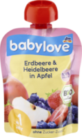 Quetschbeutel Erdbeere & Heidelbeere in Apfel ab 1 Jahr
