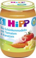 Babymenü Bio-Schinkennudeln mit Tomaten & Karotten ab 6. Monat