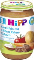 Menü Kartoffeln mit mildem Rahm-Gulasch ab 8. Monat