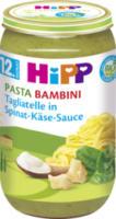 Kindermenü Pasta Bambini Tagliatelle in Spinat-Käse-Sauce ab 12. Monat