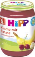 Früchte Kirsche mit Banane ab 6. Monat